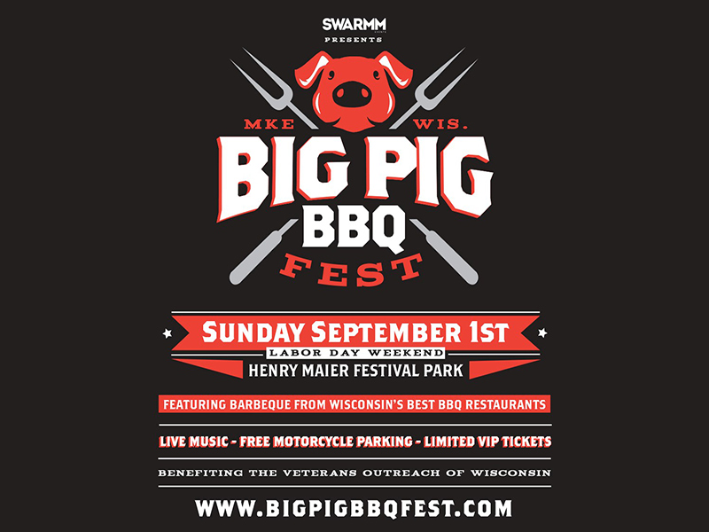 "<p>Big Pig BBQ Fest will feature 15 or more Wisconsin BBQ Restaurants for a cooking competition voted on by you! The event will feature live music, bourbon, beer and tons of great entertainment. Attendees vote on their favorite BBQ to see who takes home the crown of Milwaukee's BBQ KING! Prepare your stomachs!</p> <p><br />Tickets: <a href=""http://www.bigpigbbqfest.com/tickets.html"" target=""_blank"" rel=""nofollow noopener noreferrer"">http://www.bigpigbbqfest.com/tickets.html</a><br />More info: <a href=""http://www.bigpigbbqfest.com/"" target=""_blank"" rel=""nofollow noopener noreferrer"">http://www.bigpigbbqfest.com/</a><br /><br /></p>"
