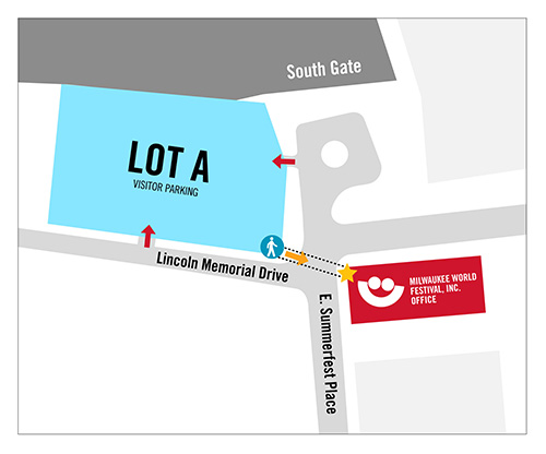 Visitor Lot and parking map